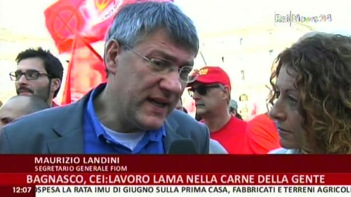Fiom in piazza, Landini: estendere cassa integrazione 