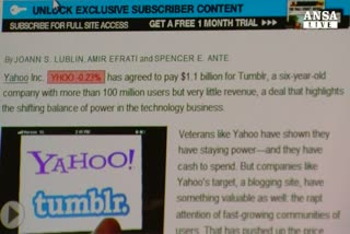 Yahoo! fa offerta per acquistare Tumblr