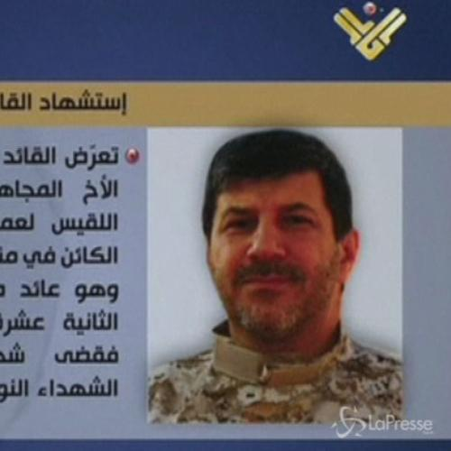 Libano, assassinio comandante Hezbollah