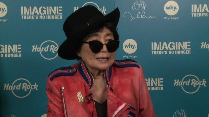 "Yoko Ono contro la fame nel mondo: ""Imagine there's no ..."