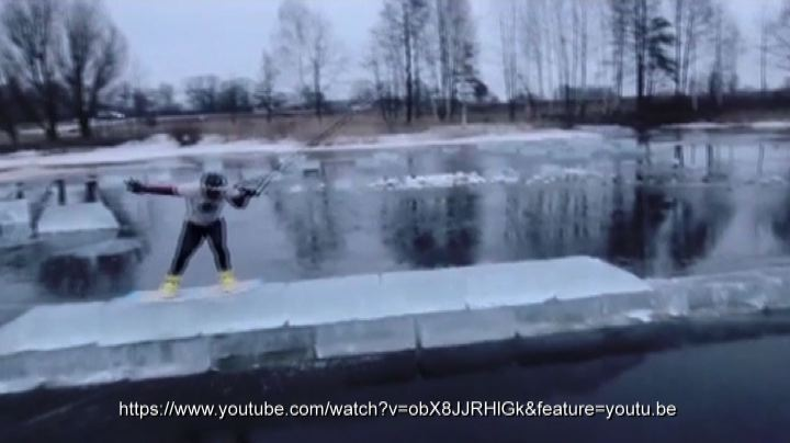 Ice surfing