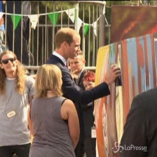William e Kate ad Adelaide: fanno i dj e i graffitari