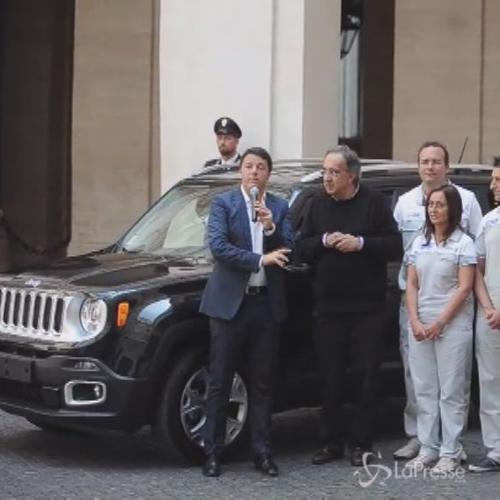 Elkann e Marchionne da Renzi per presentare nuova Jeep Renegade