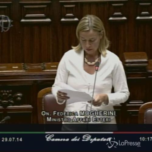 Medioriente, ministro Mogherini alla Camera: Garantire la sicurezza di Israele