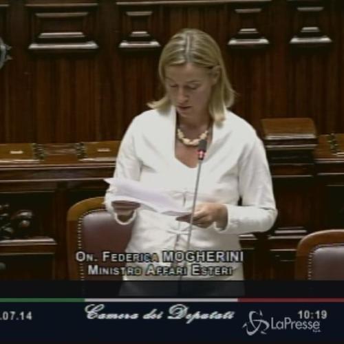 Medioriente, ministro Mogherini: Creare uno Stato palestinese, Europa dia contributo