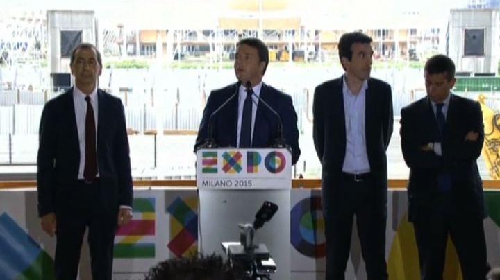 """Expo, Renzi: il 1 maggio 2015 sarà il """"no gufi day"""""""