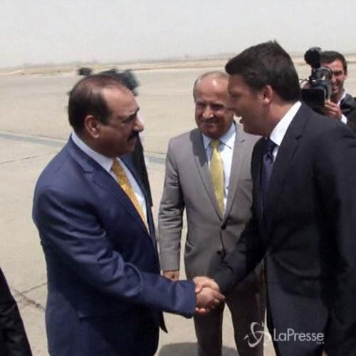 Renzi vola in Iraq: L'Europa deve essere qui