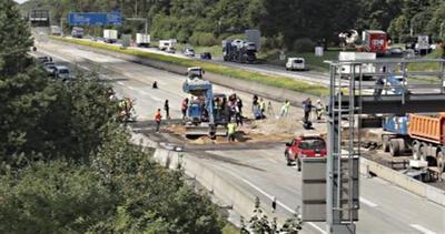 Bomba della 2a guerra mondiale esplode in autostrada
