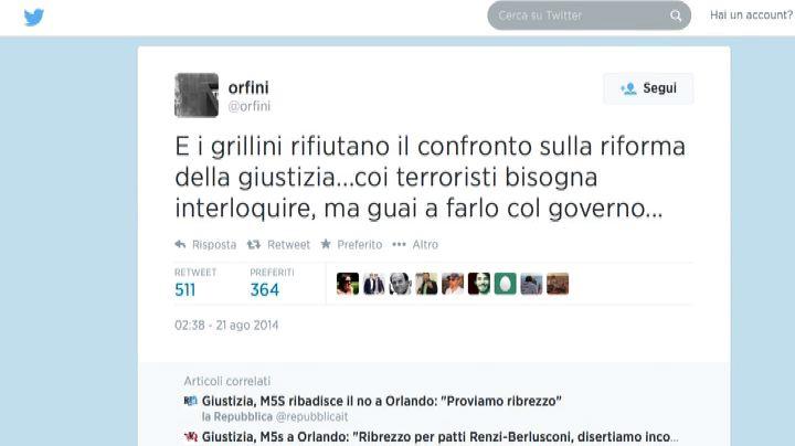 Riforma Giustizia, Grillo dice no a Orlando: Renzi ironico  ...