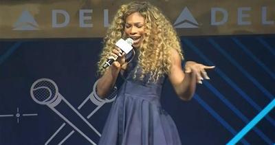 Serena Williams, cantante per una notte