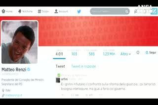 """Renzi:""""M5S dialoga solo con terroristi"""""""