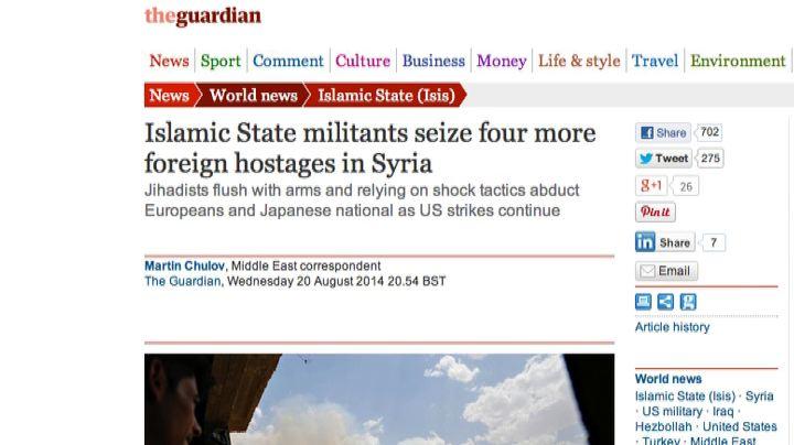 Siria, Guardian: quattro ostaggi tra cui due italiane in ...