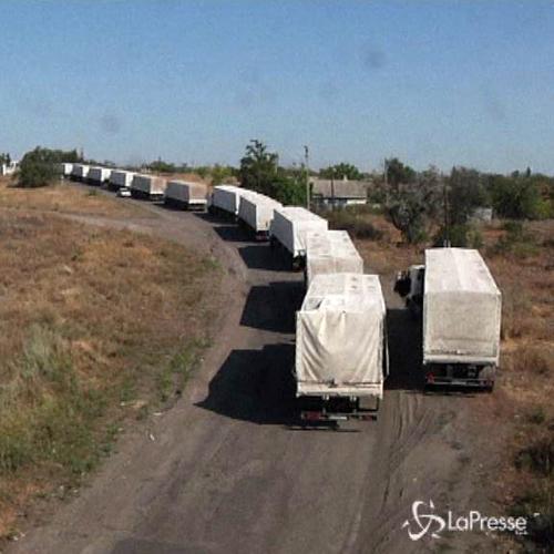 Ucraina, rientrano in Rusia i primi camion del convoglio ...