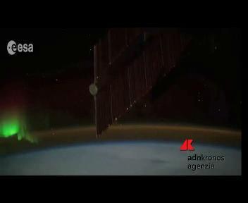 Aurora polare vista dallo spazio