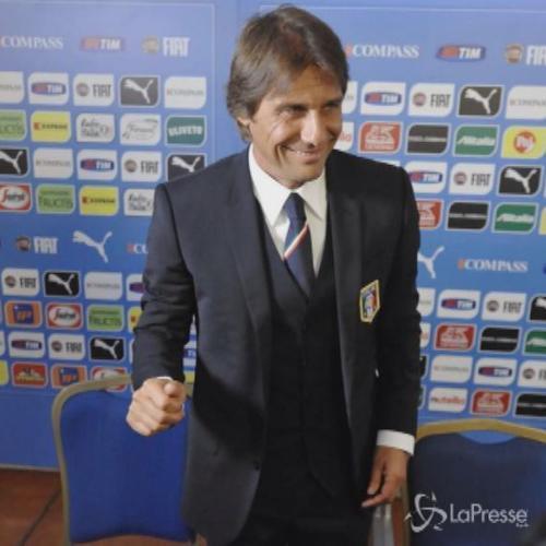 Ct della Nazionale Conte con Oriali in visita a Milan e Inter