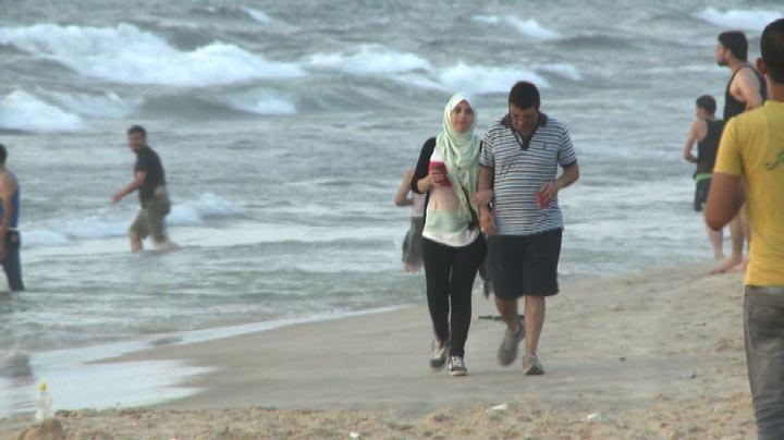 La spiaggia di Gaza City