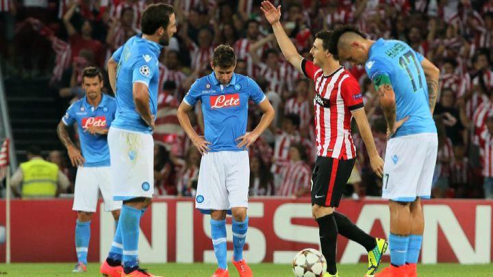I tifosi del Napoli delusi per la debacle di Bilbao