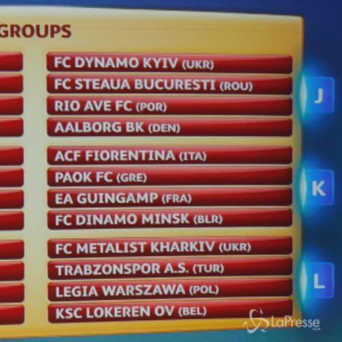 Europa League, Napoli trova Sparta. Inter il Dnipro. Paok per Fiorentina, Toro con Bruges