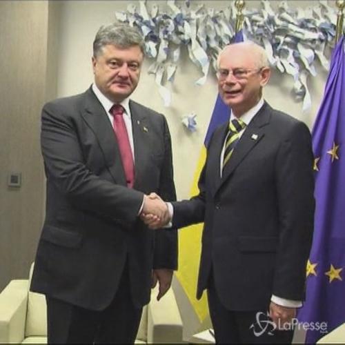 Ucraina, Poroshenko incontra Van Rompuy e Barroso prima del ...