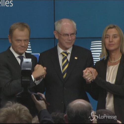 Ue nomina Mogherini Alto rappresentante politica estera e ...