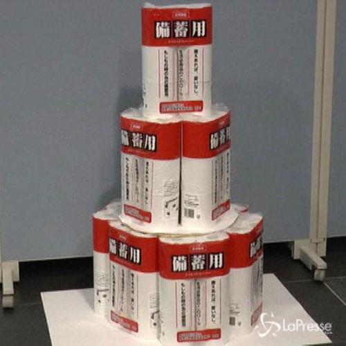 Giappone lancia allarme carta igienica in caso di calamità ...