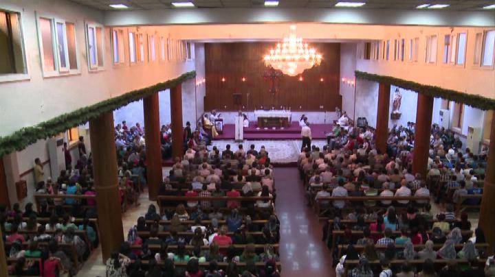 Una messa ad Arbil per i cristiani profughi iracheni