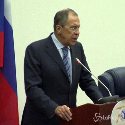 Ministro Esteri russo Lavrov : Nessun intervento armato ...