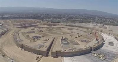 Un drone immortala il nuovo campus segreto di Apple
