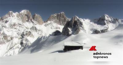 Ciclone Elettra porta la neve sopra i 1.500 metri