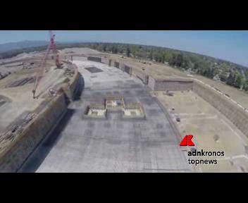 In volo con un drone sulla 'nave spaziale' di Apple