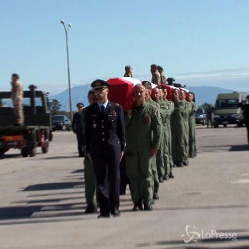 I funerali degli aviatori che persero la vita in scontro ...
