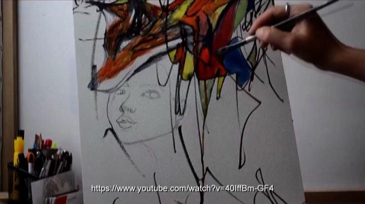 Creativa collaborazione fra bimba e pittrice