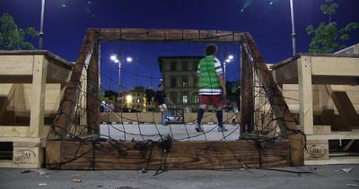 FreeMatch. Lo stadio in legno va in piazza Leopoldo