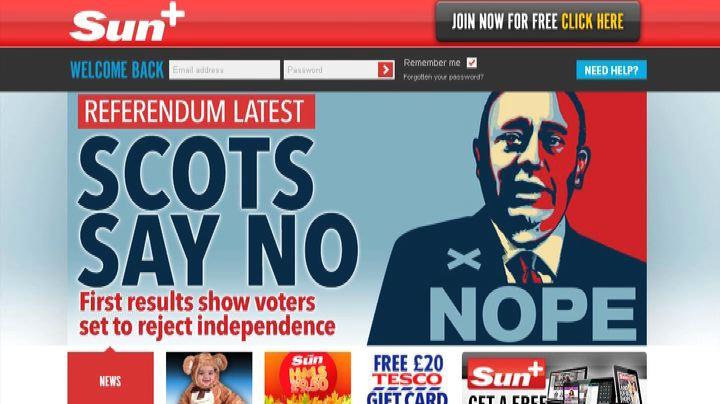 Scozia, i giornali britannici e il no all'indipendenza