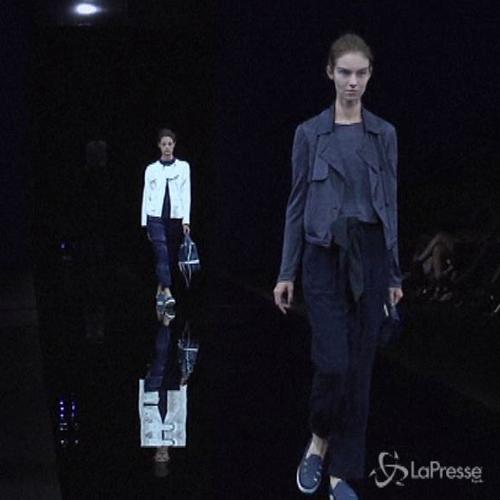 Milano moda, 50 sfumature di blu per la nuova collezione ...