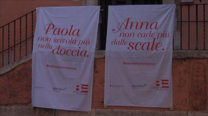 """Roma, """"BeFree"""" contro violenza domestica: lenzuola bianche ..."""