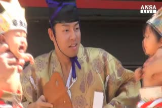 A Tokyo cerimonia secolare 'Naki sumo'