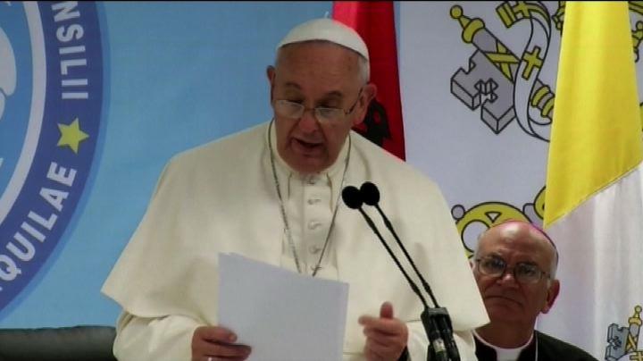 """Ecco le parole del Papa: """"Uccidere nel nome di Dio è ..."""