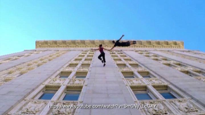 Danza di coppia sul muro