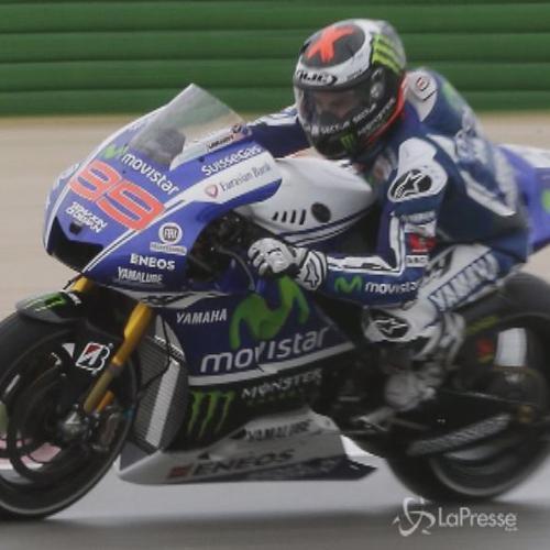 MotoGp Aragon, Lorenzo trionfa sotto la pioggia, cadono ...