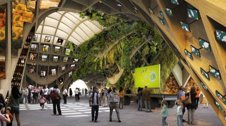 """Una """"halle"""" di legno per rappresentare la Francia all'Expo ..."""