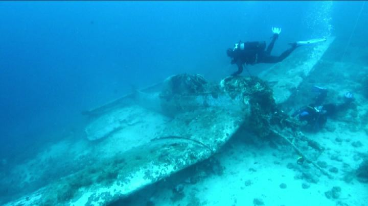 Un bombardiere tedesco in fondo al mare croato
