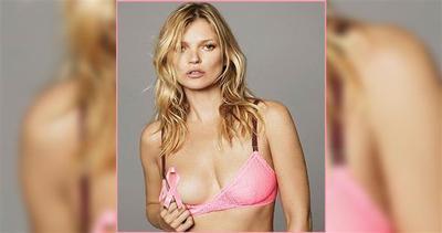 Kate Moss sfoggia il fiocco rosa in un punto strategico     ...