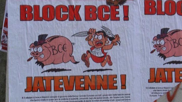 """Napoli, i """"Block Bce"""" in piazza contro la politica e ..."""