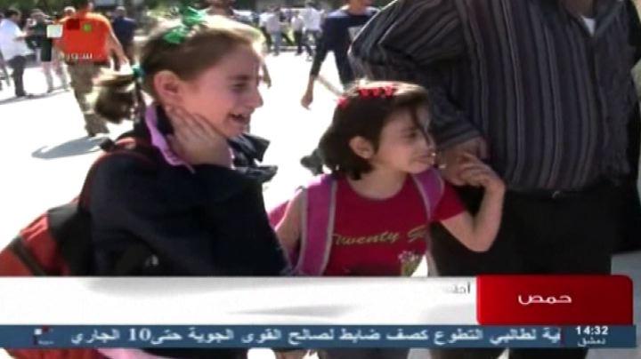 Siria, manifestazione a Homs dopo attentato con 47 studenti ...