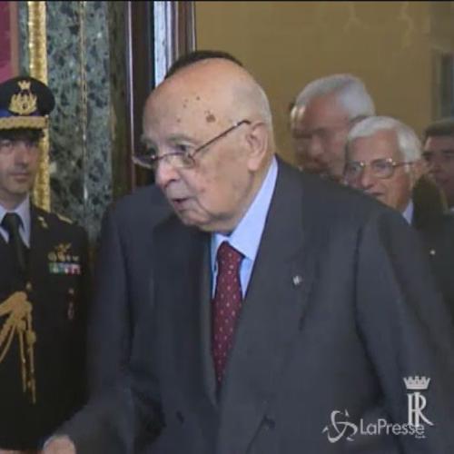 Napolitano apre riunione del Consiglio supremo di difesa al Quirinale