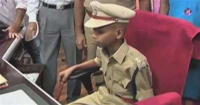 Commissario di polizia a 10 anni, sogno avverato