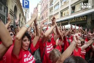 Meridiana: sit-in lavoratori sotto ministero Lavoro
