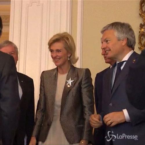 La principessa Astrid del Belgio incontra presidente ...
