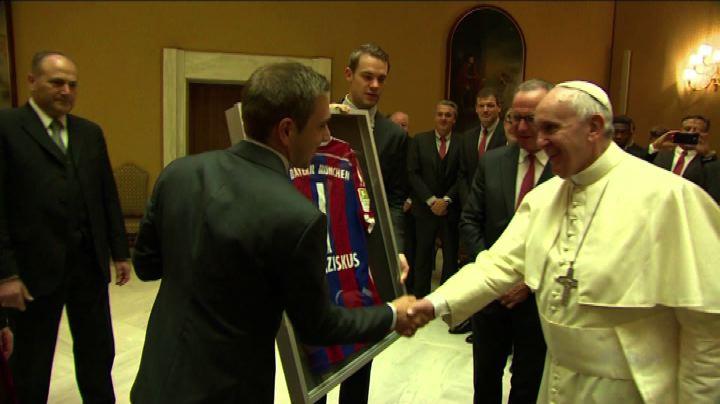 Il Bayern da Papa Francesco, promette 1 milione di euro     ...